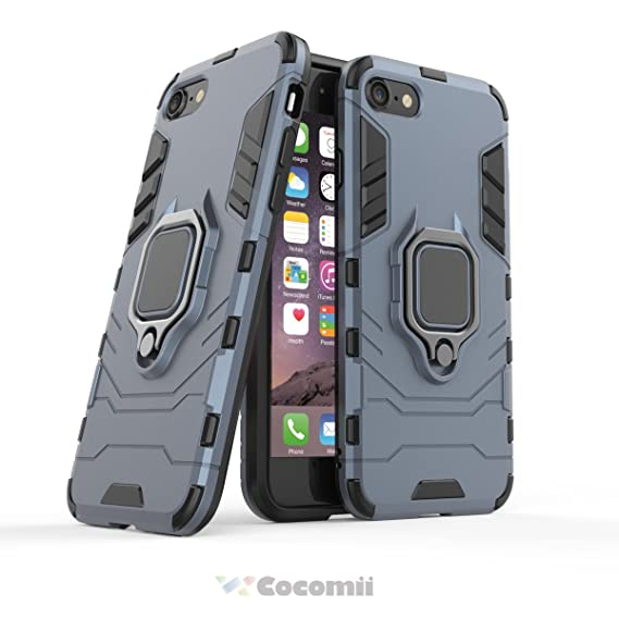 huge selection of f02be 3d0c3 Cocomii Black Panther Armor iPhone 8/iPhone 7 Case New [Heavy Duty]  Tactical Metal Ring Grip Kickstand Shockproof Bumper [Works with Magnetic  Car ...