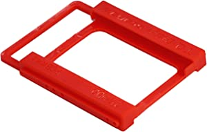 SaiTech IT Plastic Screw Less 2.5 inch SSD HDD SATA Hard Disk Mounting Adapter Bracket - Red