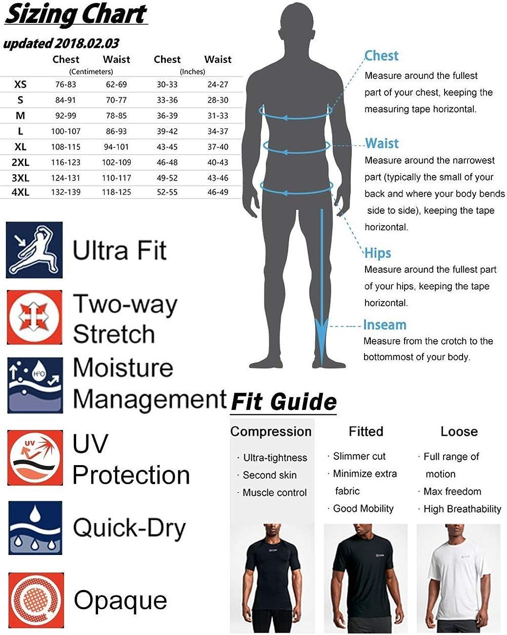 SNOW DREAMS Mens Long Sleeve Rush Guard UV Sun Protection Top Shirts Quick Dry Stretchy