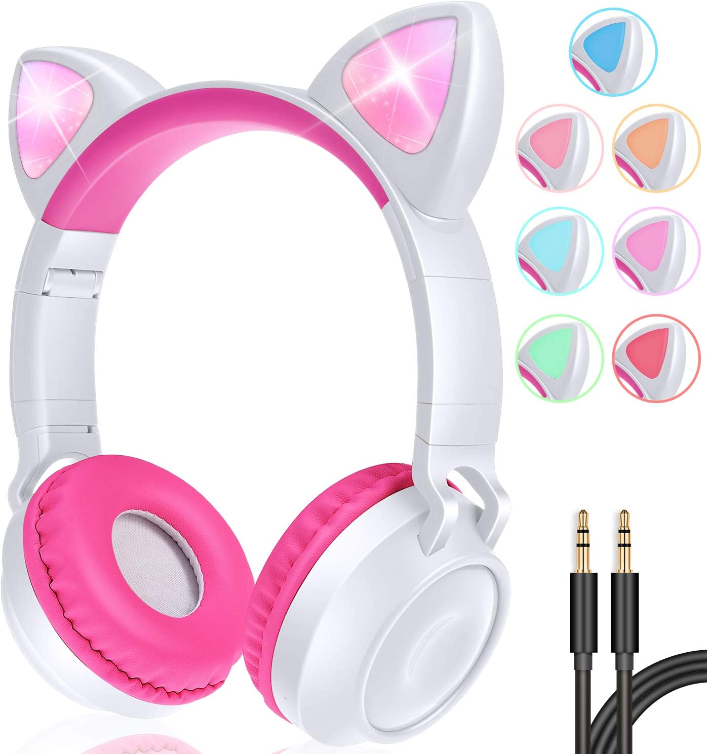 look this one headphone this is one of the best headphone for the kids and toddles who are going to school for this is look like cat