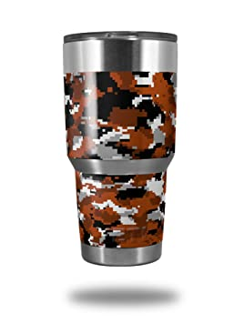 Skin Wrap para vaso de Yeti Rambler 30 oz wraptorcamo Digital camuflaje Burnt Orange