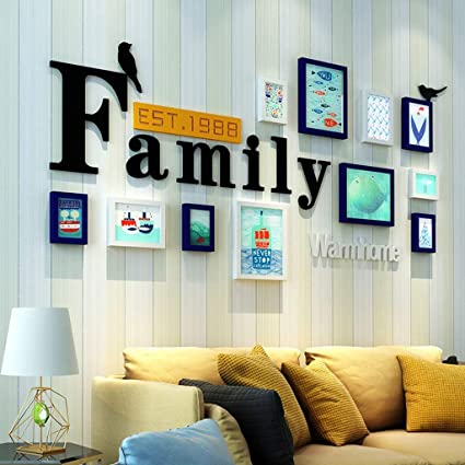 . Amazon com   Modern Home Wood Photo Frame Sets of 11 Pieces Living