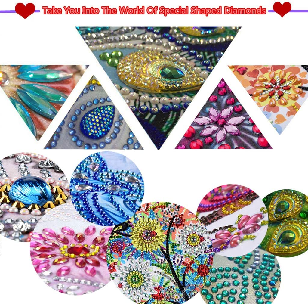 Diamond Painting Bookmaks-Diamond Painting for Adults 5D DIY Bookmarks with Tassel Arts Crafts Set Rhinestone Mosaic Gifts for Gift Christmas Ross Beauty Tiger