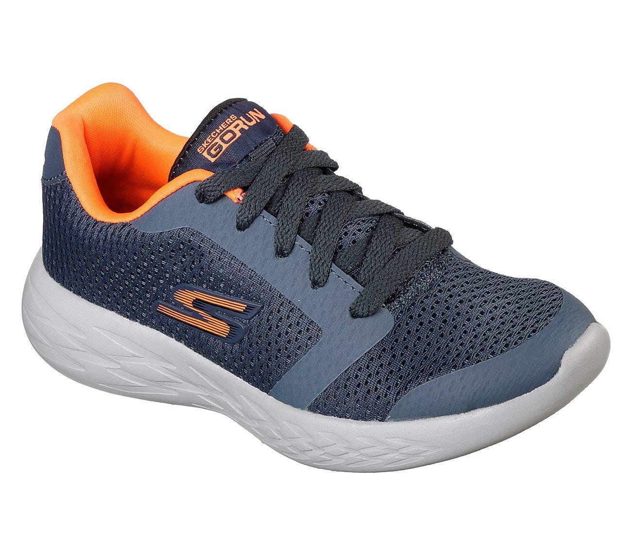 Skechers Boy's GOrun 600 - Zeeton, Running, Slate Gray, 3.5 US M