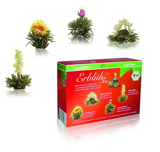 Creano Abloomtea Organic Tea Flowers Mix 8 Spheres In 4 Varieties