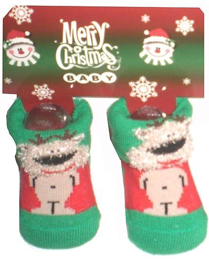 Calcetines para bebé alce Baby Newborn regalo navidad Calcetines papá noel nacimiento