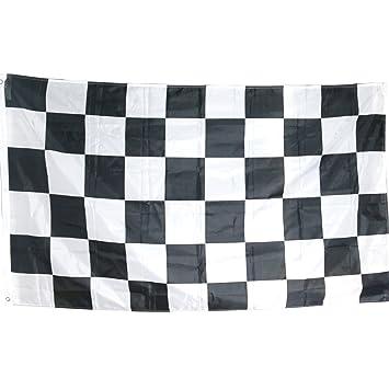 TRIXES Bandera Grande a Cuadros Blancos y Negros Carrera Autos F1-5 pies x 3
