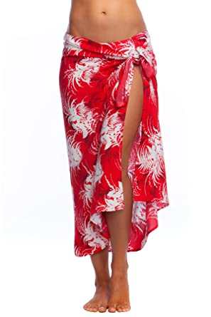 8740f18104542 La Blanca Women's Pareo Wrap Swim Cover-Up, Flame, ONE at Amazon Women's  Clothing store: