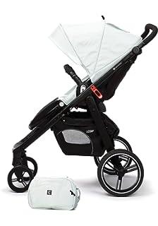 Casualplay Loop - Silla de paseo con chasis negro, color ice (blanco)