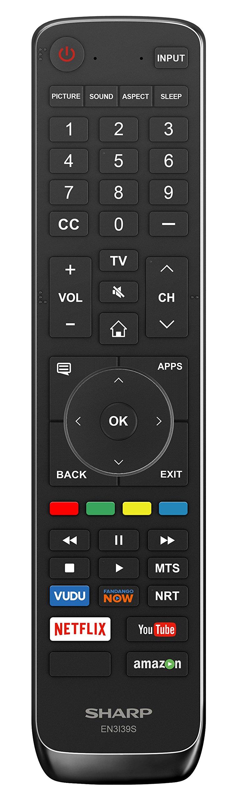 "55"" TV 4K Smart 2160p UHD Sharp Aquos Apps 2"