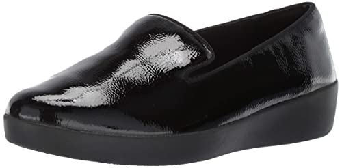 Fitflop Audrey Smoking Slipper-Patent, Mocasines para Mujer: Amazon.es: Zapatos y complementos