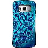 Galaxy S8 Case, ZUSLAB Pattern Design, Shockproof Armor Bumper, Heavy Duty Protective Cover For Samsung Galaxy S8 (Blue Mandala)