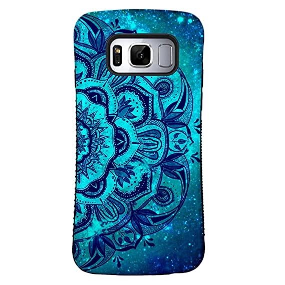 low priced 11f31 616a3 ZUSLAB Galaxy S8 Plus Case, Pattern Design, Shockproof Armor Bumper, Heavy  Duty Protective Cover for Samsung Galaxy S8 Plus (Blue Mandala)