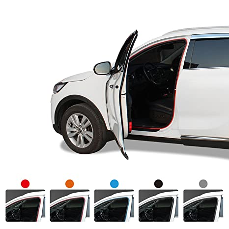 Car Noise protection keeper Anti Wind Noise Door Air Seal Strip DIY  Moulding Trim (Orange)