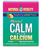 Natural Vitality, Natural Calm plus Calcium Drink Powder, Raspberry-Lemon, 30 ct., Anti-Stress Drink. Magnesium Supplement