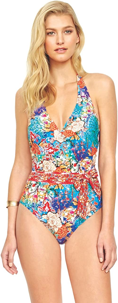 Gottex One Piece Swimsuit Kyoto Surplice with Bow 18KY-027