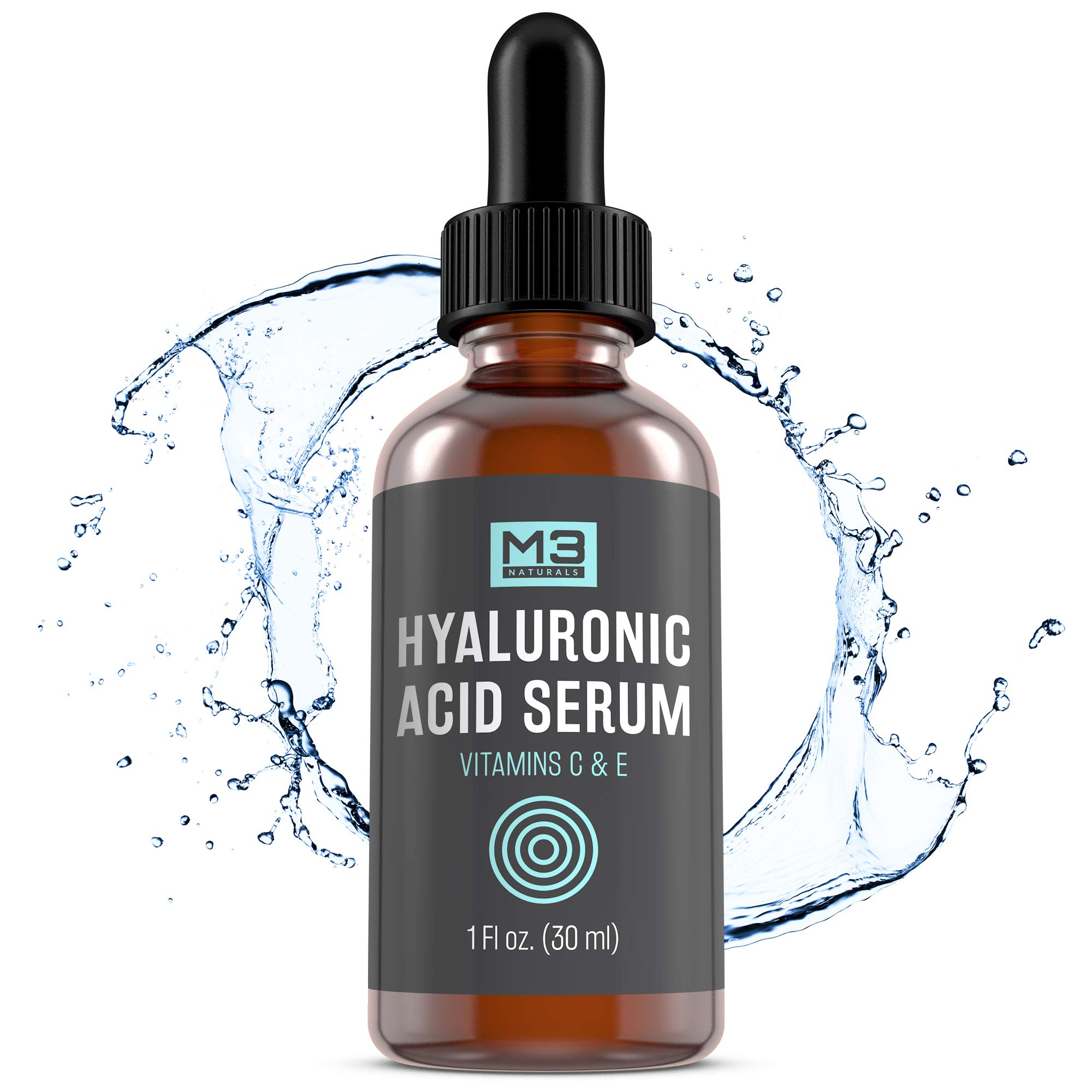 Premium Hyaluronic Acid Neck Firming Serum for Skin with Vitamin C & E for Face, Anti-Aging Topical Facial Serum, 1 fl oz