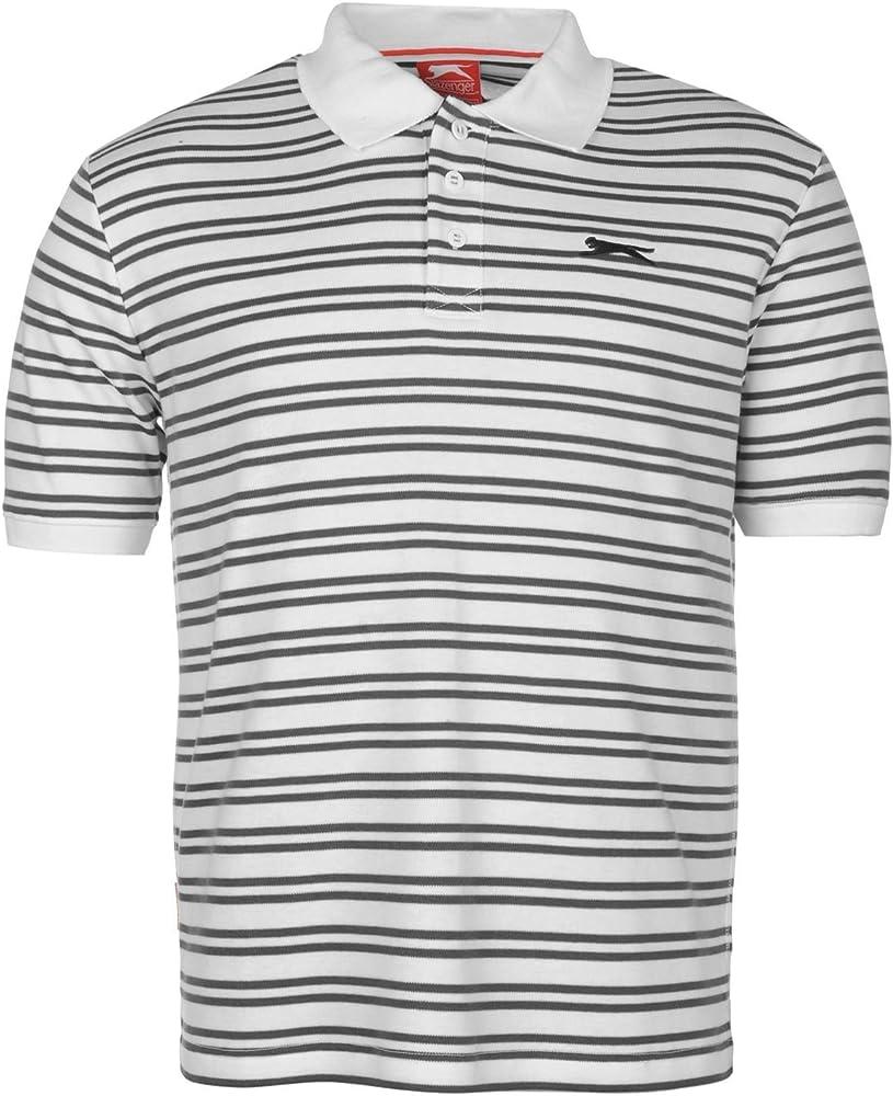 Slazenger Hombre Inter Lock Yarn Dyed Polo Camisa Camiseta Mangas ...