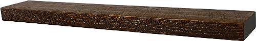 Rustic Floating Mountable Wood Shelf, Antique, Pine, 36 X 6 X 2