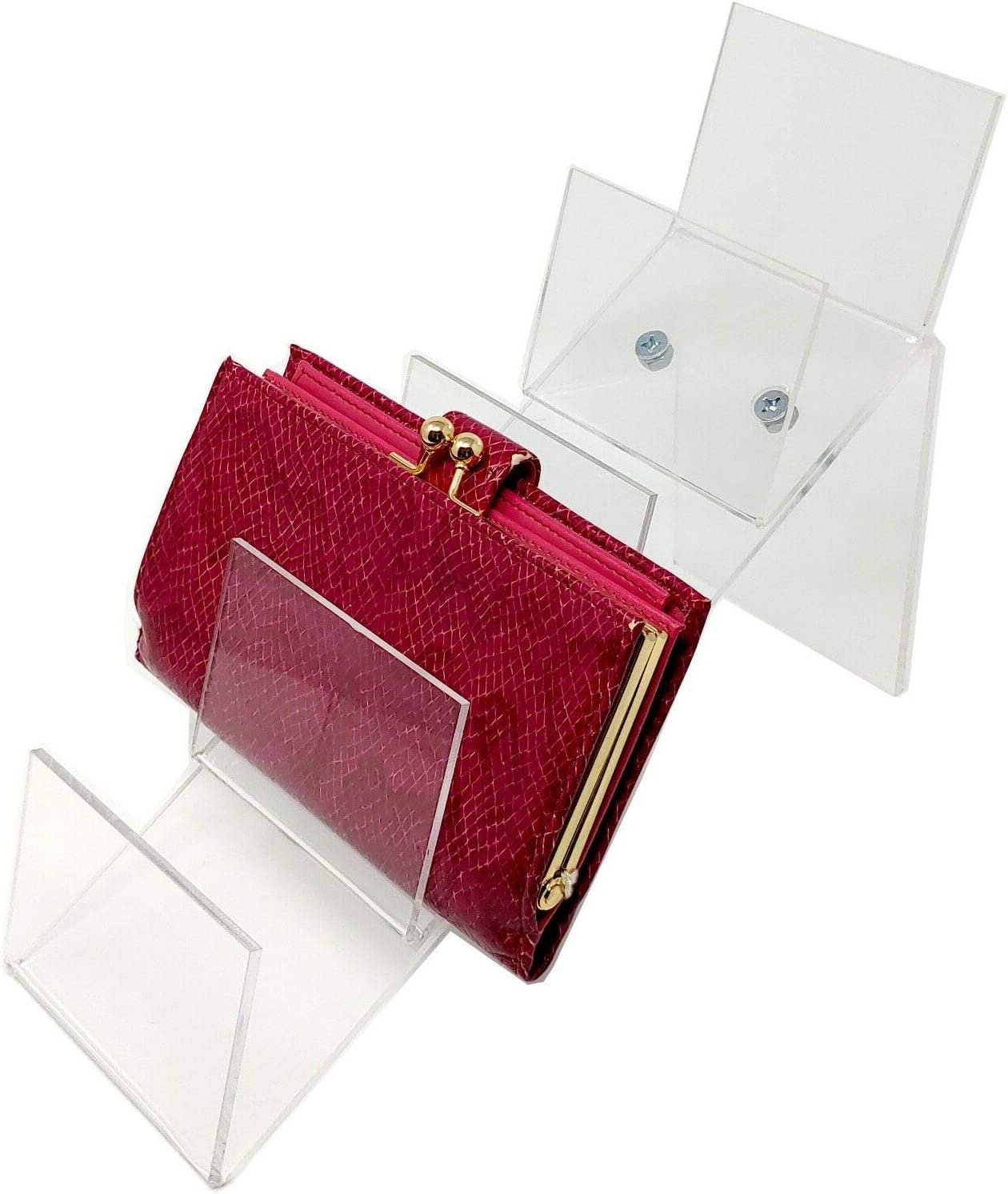 """Acrylic Clutch Handbag or Purse Display Easel 5.5/"""""""