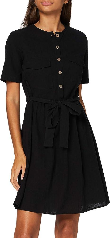 PIECES Damen Pcminda Ss Dress Camp Bc Kleid