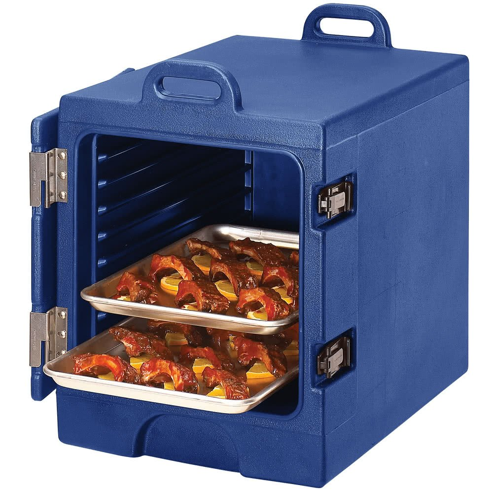 Navy Blue TableTop king Camcarrier 1318MTC186 Insulated Tray / Sheet Pan Carrier - Front Load Holds Half Size Pans