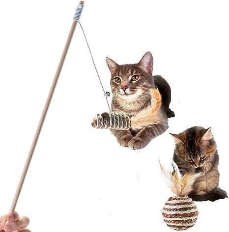 beaulyn Cat Toys - Pelota de rascador de Madera para Gatos: Amazon ...