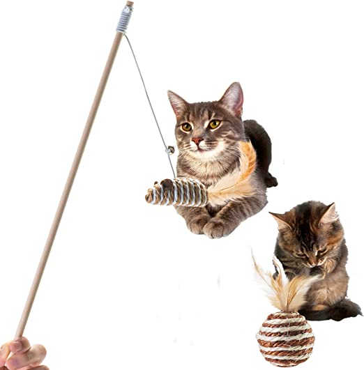 beaulyn Cat Toys - Pelota de rascador de Madera para Gatos: Amazon.es: Productos para mascotas