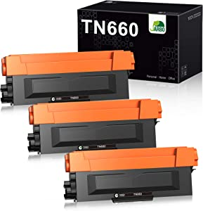 JARBO Compatible Toner Cartridge Replacement for Brother TN660 TN-660 TN630 TN-630, 3 Black, High Yield, for HL-L2300D HL-L2320D HL-L2380DW HL-L2340DW MFC-L2700DW MFC-L2720DW MFC-L2740DW Printer