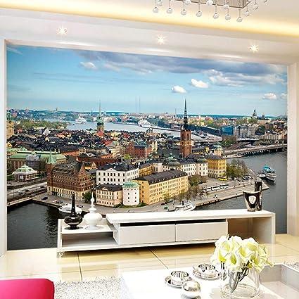Camere Da Letto Di Marca.Addflower Personalizzato Fotomurale 3d Moderna Affascinante City