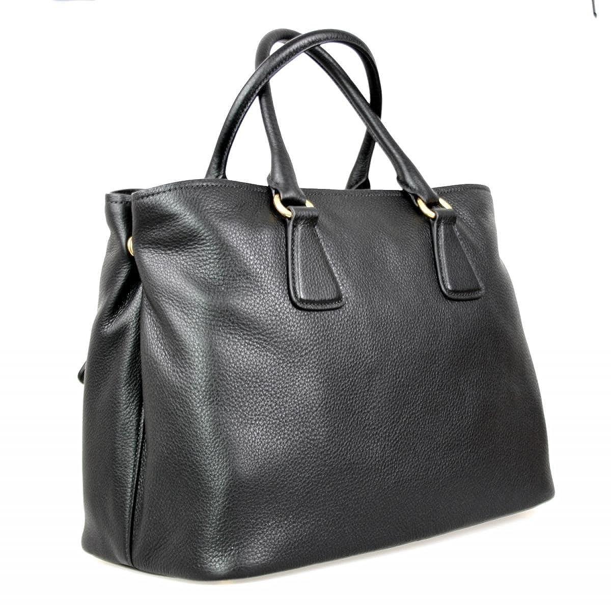 819ae1ab Prada Women's 1BA794 UWL F0002 Black Leather Shoulder Bag: Handbags ...