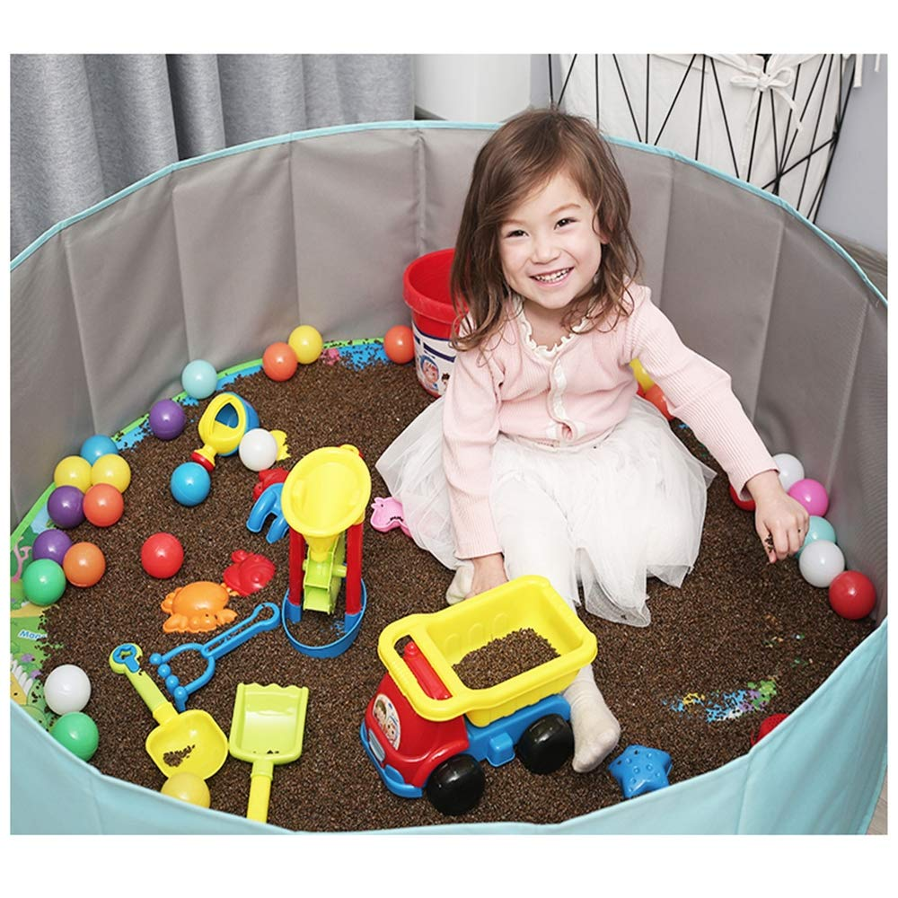 GYJ Beach Sand Toys Set Models Activity & Entertainment Guardrail Safety Fence Children Cassia Toys Marine Ball Suit Baby Play Sand Pool Tools Cloth Hourglass Home Playing by GYJ (Image #5)