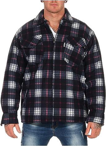 ZARMEXX Camisa térmica de Hombre Chaqueta de leñador a Cuadros Chaqueta de Trabajo Chaqueta de Franela A Cuadros cálidos y Suaves: Amazon.es: Ropa y accesorios