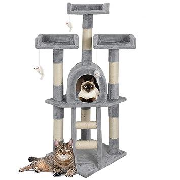 árbol para Gatos con de caseta Juguete Gatos Parque de ...