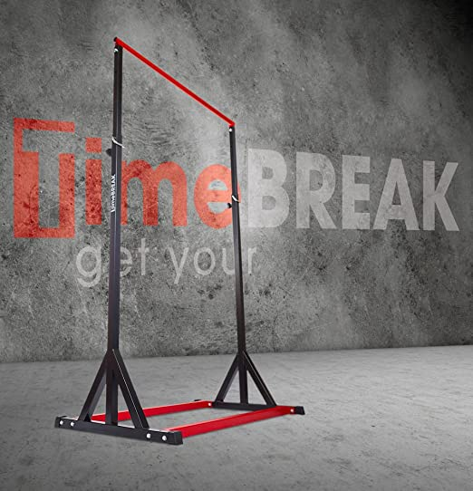 Timebreak - Barra de Dominadas G-Force - Barra Pull Up para ejercicios de pectorales, brazos, espalda, hombros o abdominales - Altura máxima 255 cm