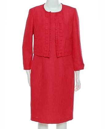 Amazon Com Kasper Women S Business Suit Dress Set 8 Coral Rose