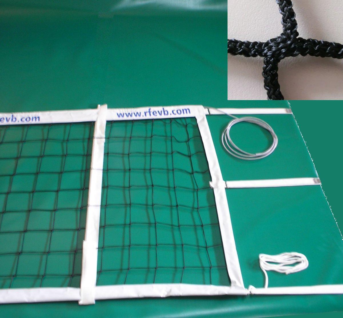 Voleibol modelo competición oficial polipropileno sin nudos 4 mm Redes Deportivas On Line