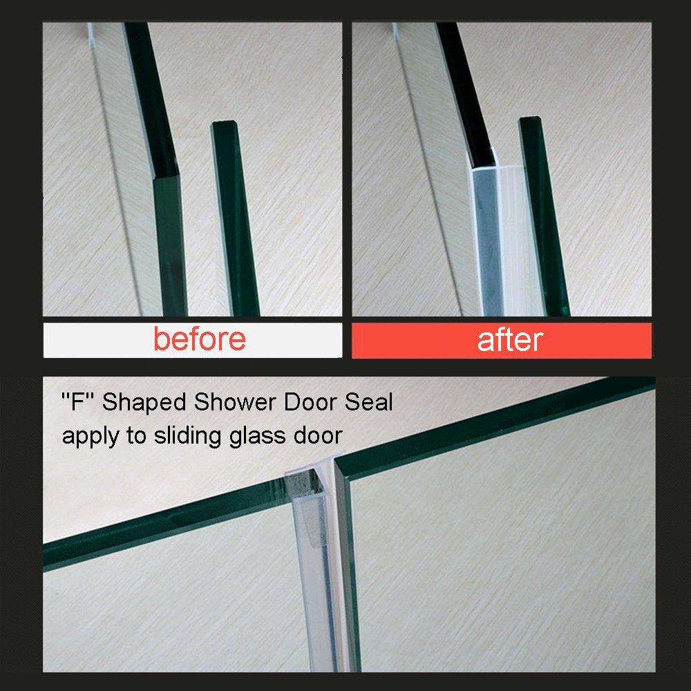 Huaha Frameless Flexible Shower Door Seal Sweep For 38 Glass 10