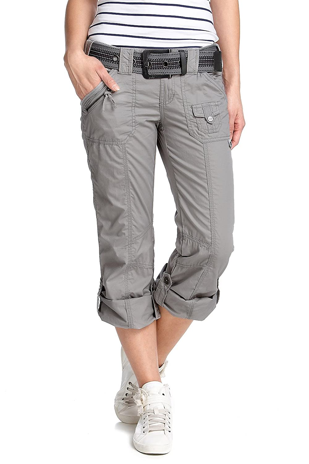 5991f37529 ESPRIT N4C131 Relaxed Women's Cargo Trousers Silver Size 8: Amazon.co.uk:  Clothing