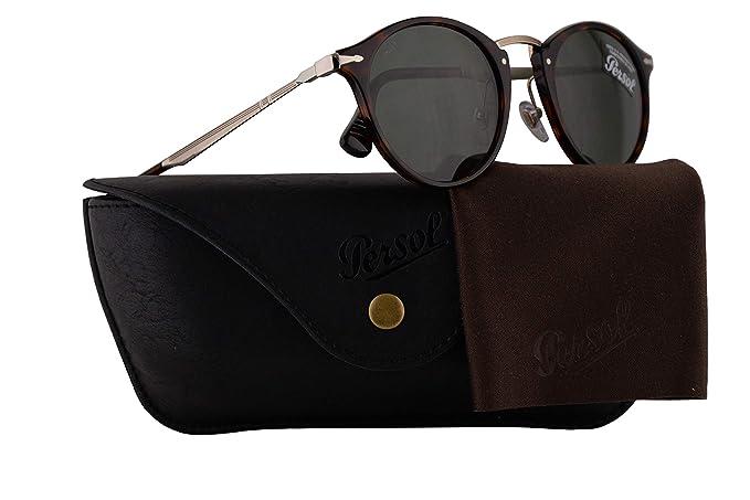 ea2e7e9191 Amazon.com  Persol PO3166S Calligrapher Edition Sunglasses Havana w Green  Lens 51mm 2431 PO 3166S PO3166-S PO 3166-S  Clothing