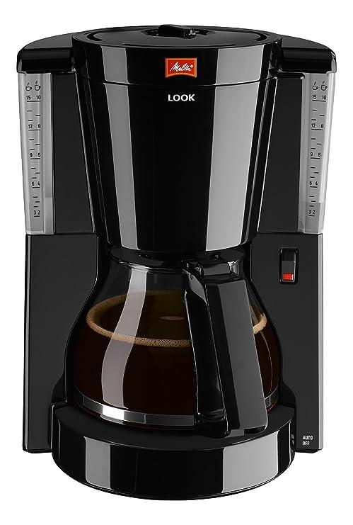 Melitta Look Cafetera de Goteo, 1000 W, 1.25 litros, Negro: Amazon ...