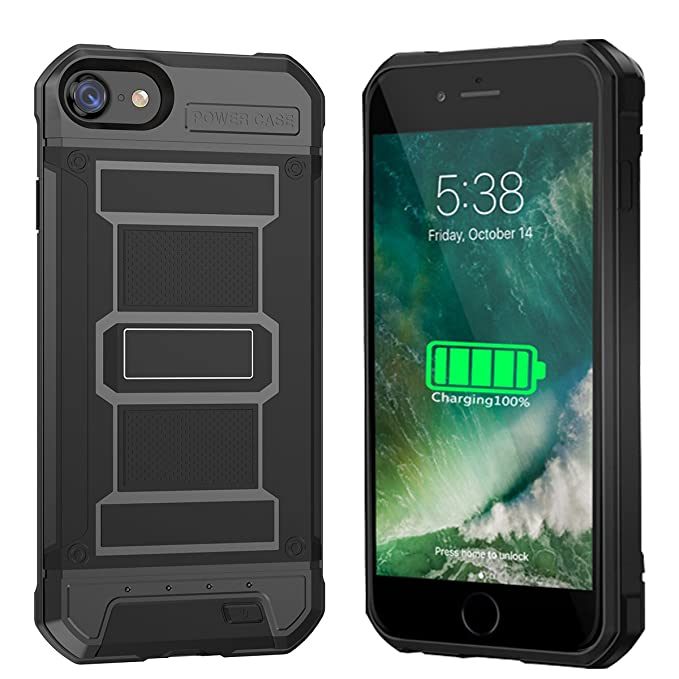 los angeles 6ed0a 7ff9e iPhone 8 Plus Battery Case - 4200mAh Slim Portable Charger Rechargeable  Extended Backup Battery Protective Charging Pack Power Bank Case for iPhone  8 ...