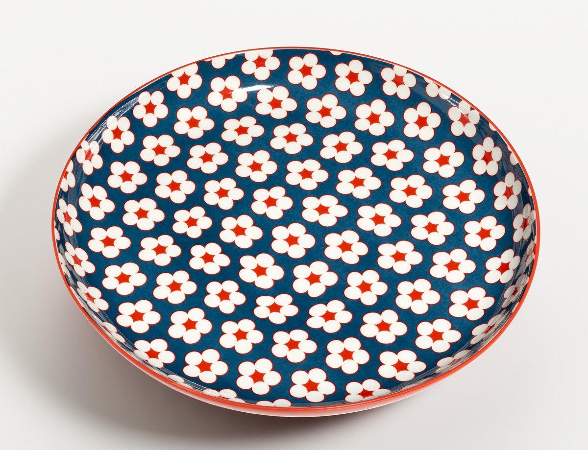 Christopher Vite Cotton fioc blu scuro insalata piastra 23 centimetri CHRISTOPHER VINE