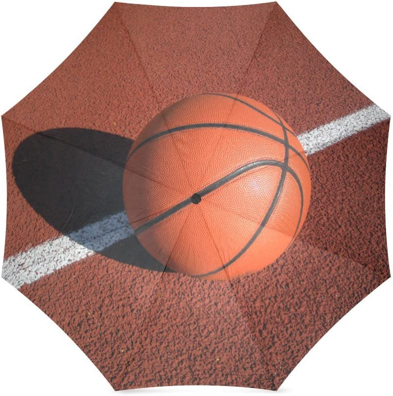 Custom Basketballs Compact Travel Windproof Rainproof Foldable Umbrella