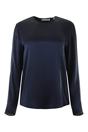 894fe4d629bc Amazon.com: Vince Tie Back Blouse in Marine (Marine, L): Clothing