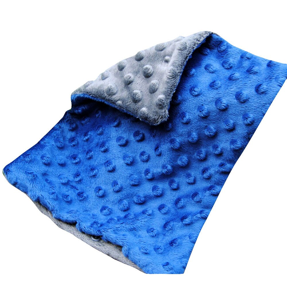 WOMHOPE 12.6in x 19.6in - Double-sided Soft Minky Dot Baby Pillowcase Toddler Pillowcase Children's Pillowcases Nursery Pillowcases Travel Bedding No Ruffle (Blue & Grey)