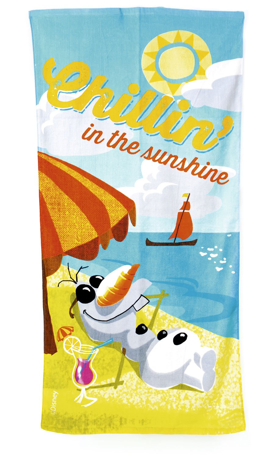 Disney Frozen 140 x 70 cm Olaf Chillin in the Sunshine Beach and Bath Towel MegaBrands WD15021