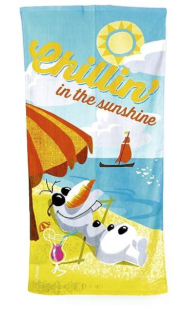 Disney congelado 140 x 70 cm Olaf Chillin en el Sunshine La playa y toalla de baño: Amazon.es: Ropa y accesorios