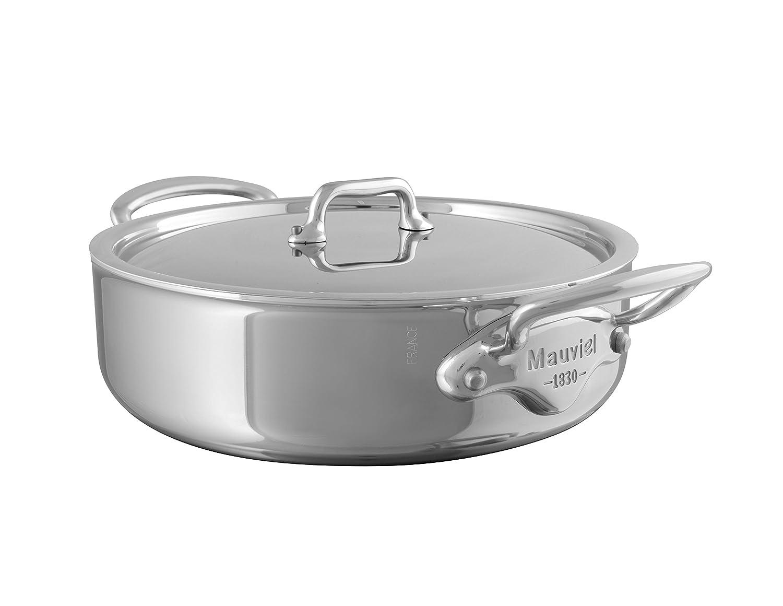 Mauviel 24 x 7.6 cm M'Cook Stainless Steel Saute Casserole 35523024