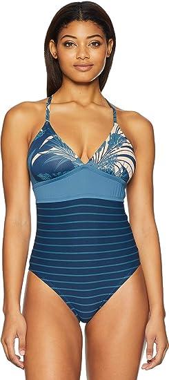 309dcec0525d1 CARVE Designs Dahlia One Piece, Small, Indigo Shade